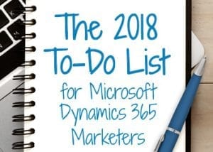2018 marketers to do list image
