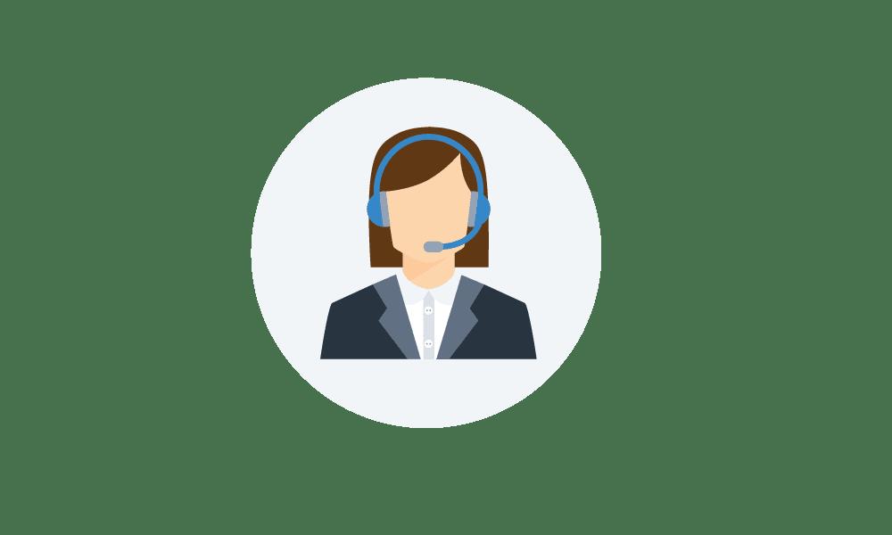 Icon of customer service representative
