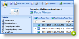 Link web forms and pages to CRM Campaign records