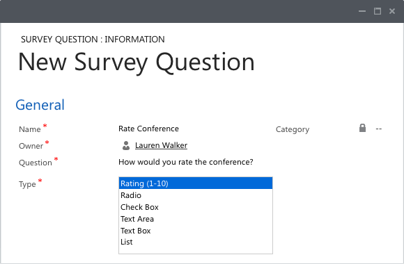 Flexible surveys for dynamics 365 CRM